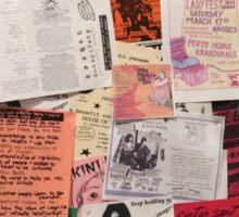Riot Grrrl Fliers (1996) Sticker
