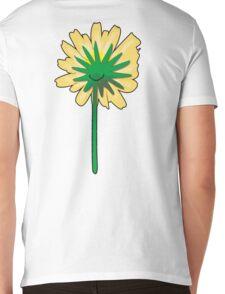 Flower back. Mens V-Neck T-Shirt