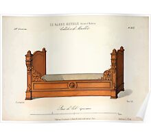 Le Garde Meuble Desire Guilmard 1839 0319 High Style Bed and Window Hanging Interior Design Poster