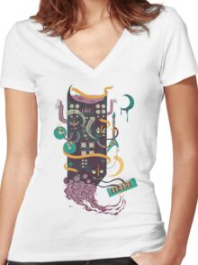 Power Trio Women's Fitted V-Neck T-Shirt