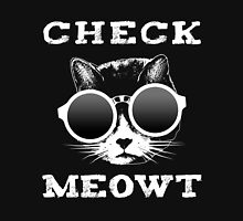 Check Meowt Cat with Shades Womens Fitted T-Shirt