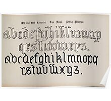The Signist's Book of Modern Alphabets Freeman F Delamotte 1906 0149 Fourteenth 14th and Fifteenth 15th Century British Museum Poster
