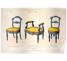 Le Garde Meuble Desire Guilmard 1839 0013 High Style Seat Furniture Interior Design Poster