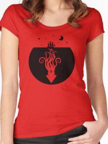 Kraken Night Life (Black) Women's Fitted Scoop T-Shirt
