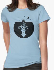 Kraken Night Life (Black) Womens Fitted T-Shirt