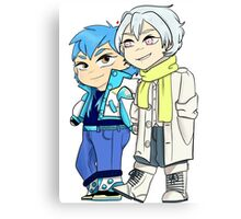 Chibi Aoba and Clear Canvas Print