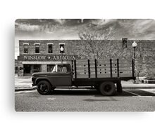 I was standing on the corner in Winslow Arizona.... Canvas Print