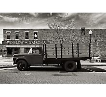 I was standing on the corner in Winslow Arizona.... Photographic Print