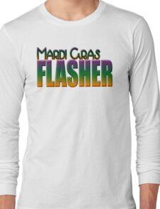 Mardi Gras Flasher Long Sleeve T-Shirt