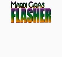 Mardi Gras Flasher Womens Fitted T-Shirt
