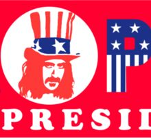Zappa For President Sticker Sticker