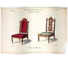 Le Garde Meuble Desire Guilmard 1839 0247 High Style Seat Furniture Interior Design Poster