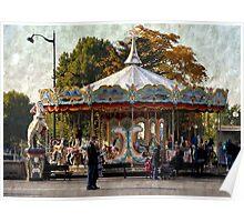 Carousel de la Tour Eiffel Poster