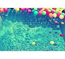 Un arcoiris de globos Photographic Print