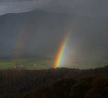 Rainbow over the Valley by Ben Breen