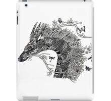 Haku The River Spirit Black and White Doodle Art iPad Case/Skin