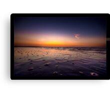 Beach Bubbles Sunset Canvas Print