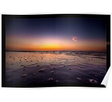 Beach Bubbles Sunset Poster