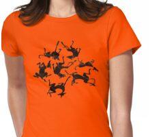 sleeping greyhounds Womens Fitted T-Shirt