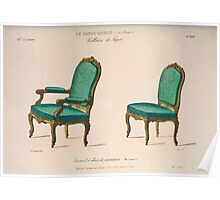 Le Garde Meuble Desire Guilmard 1839 0089 High Style Seat Furniture Interior Design Poster