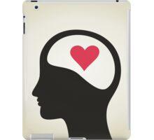 Heart in a head iPad Case/Skin