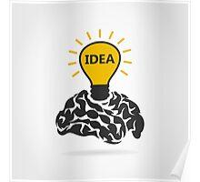 Idea of a brain Poster