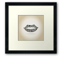 Lips9 Framed Print