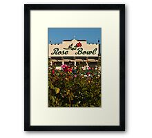 The Rose Bowl Framed Print
