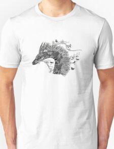 Haku The River Spirit Black and White Doodle Art T-Shirt