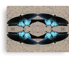 Iridescent Blue Dance Canvas Print