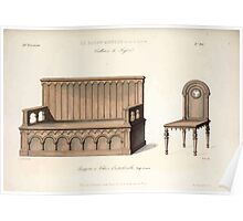 Le Garde Meuble Desire Guilmard 1839 0175 High Style Seat Furniture Interior Design Poster