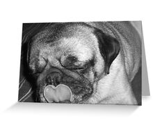 Licky Puppy Greeting Card