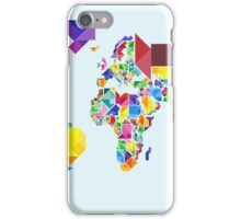 Tangram Abstract World Map iPhone Case/Skin