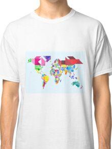 Tangram Abstract World Map Classic T-Shirt