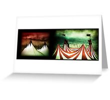 silver big top Greeting Card
