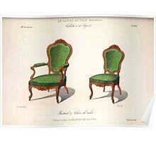 Le Garde Meuble Desire Guilmard 1839 0281 High Style Seat Furniture Interior Design Poster