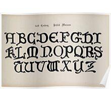 The Signist's Book of Modern Alphabets Freeman F Delamotte 1906 0145 Fourteenth 14th Century British Museum Poster