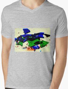 Broken Glass Mens V-Neck T-Shirt