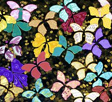 Paper Butterflies - take to flight! by Lisa Frances Judd~QuirkyHappyArt