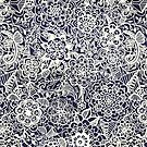 Lace on Nautical Navy Blue by Tangerine-Tane