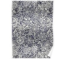 Lace on Nautical Navy Blue Poster