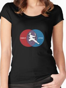 Disabilities with Attitude Women's Fitted Scoop T-Shirt