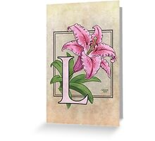 L is for Lily Greeting Card