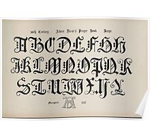 The Signist's Book of Modern Alphabets Freeman F Delamotte 1906 0169 Sixteenth 16th Century Albert Duror's Prayer Book Large Poster