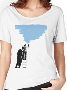 painter on a ladder Women's Relaxed Fit T-Shirt