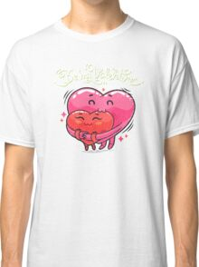 Hugging Valentine Hearts Classic T-Shirt