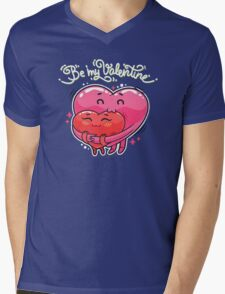 Hugging Valentine Hearts Mens V-Neck T-Shirt
