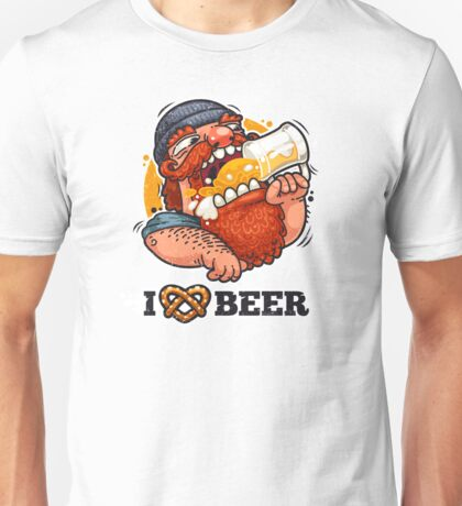 Man Loves Beer Unisex T-Shirt