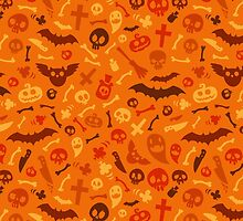 Halloween Orange Pattern by Voysla