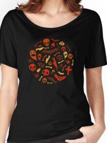 Halloween Orange Pattern Women's Relaxed Fit T-Shirt